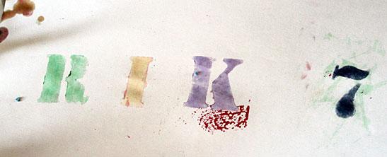 letter sjablonen