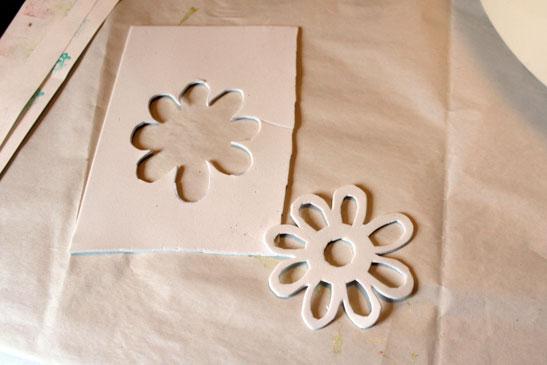 Foam stempel bloem