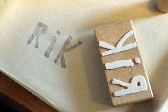 Stempels maken - denk bij letters aan het spiegelbeed