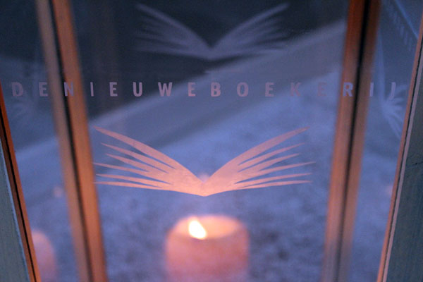 Glasets relatiegeschenk met logo